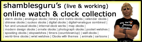 shamblesgurus live and working online watch and clock collection