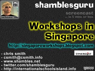 Web 2.0 workshops in Singapore